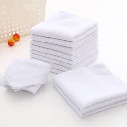 Wholesale house facing - Novelty 6pcs White Square Cotton Face Hand Car Cloth Towel House Cleaning FT