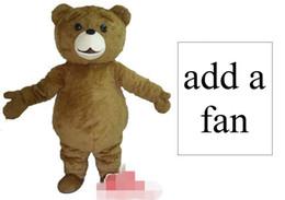 Wholesale Adult Bear Costumes - Custom Newly designed bear mascot costume Adult Size add a fan free shipping