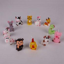 2019 velas animais Signos Do Zodíaco Chinês Fontes Do Partido Decoração Animal Vela Tigre Coelho Etc Vela De Aniversário desconto velas animais