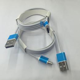 2 м 6 футов OD: 3,0 мм USB-кабель для зарядки данных с алюминием для микро типа C КАБЕЛЬ с розничной упаковке от