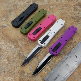 Mini porte-couteau pliant en Ligne-5 couleurs mini Porte-clés couteau de poche en aluminium à double action de pêche pliant couteau à lame fixe cadeau de Noël C190 Schempp Bowie