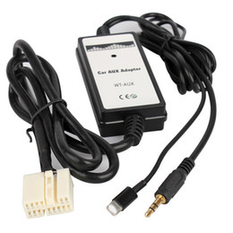 aux usb iphone kabel Rabatt 3.5mm Auto-Zusatzadapter-Kabel-Audiospieler-Schnittstelle mit iPhone USB-Audio-Digital-Disketten-Kasten für Honda Accord Civic Odyssee