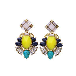 Wholesale Dangling Accessories - Simple Diamond Studded Earrings Accessories Wild Cool High-end Jewelry Earrings New