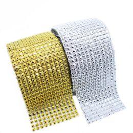 Diamanten netzband online-10 Yards / lot Kreative Glänzende Pyramide Designs Diamant Mesh Bling Kristall Ribbon Trim Hochzeit DIY Heim Dekorative Liefert
