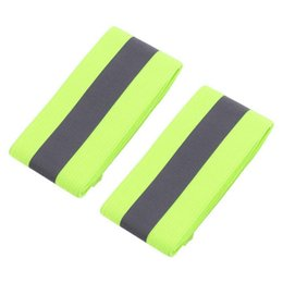 Wholesale Running Reflective Bands - 2PCS Pair Elastic Ankle Wrist Bands arm For Waling Cycling Running Outdoor Sports High Visibility Band Reflective Wristbands J2