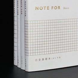 Wholesale Paper Line - White Gold Basic Notebook Lined Ruled Blank Plain Squared Dotted Bullet Journal Bujo