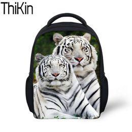 THIKIN School Bags for Kids Animal Tiger Printing Schoolbag Backpacks Baby  Mini Kindergarten Bagpack Children Small Bookbag dceb2954066af