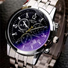 Wholesale Quartz Womens - Luxury Calendar Watch Men Women Lovers Waterproof Fashion Wristwatch Leather Stainless Steel Quartz Calendar Business Mens Womens Watches