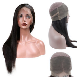 Wholesale remy hairstyles - 9A Grade Mink Brazilian Virgin Human Hair Wigs for Black Women 100% Unprocessed 360 lace frontal Wigs Remy Hair 130 density Lace Front Wigs