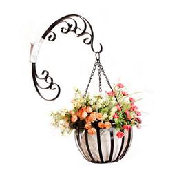 Canada Tenture murale support de fleur supports européen fleur stand paniers suspendus fer décor stockage panier jardin pot vases panier de stockage Offre