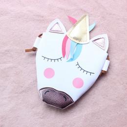 sacchetti per bambini Sconti Borse a tracolla mini per bambini Borsa a tracolla per unicorno simpatico cartone animato di pochette per bimba, borsa a tracolla per unicorno