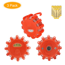 Wholesale red flashing beacon light - Coquimbo LED Road Safety Flare Magnet Red LED Flashing Warning Lights Roadside Emergency Disc Beacon For Car Truck Boat