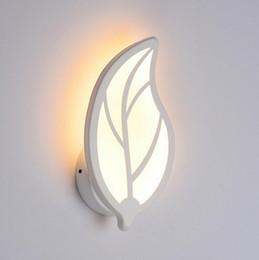 luzes laterais do quarto Desconto 9-15 W LED Wall Light Wall Mounted Único Lado Do Banheiro Quarto Corredor Decor Acryl Lamp Folha de Bambu