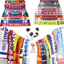 Wholesale Cup Fan - Russia World Cup 2018 football fans Scarf Of Soccer Iran National Team Scarf Flag Banner Cheerleaders Scarf 100pcs GGA85