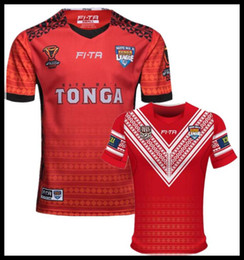 dac0496b7 TONGA RUGBY LIGA WELTCUP 18 19 HOME JERSEY 2017 2018 Neuseeland Warriorsvs  2017 Australien Special Version gelb Rugby Größe  S-3XL