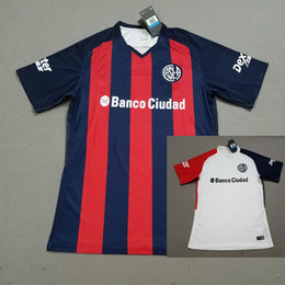 Wholesale Cheap Thailand Jerseys - TOP Thailand 2018 San Lorenzo home Soccer Jersey San Lorenzo de Almagro CAUTERUCCIO BARRIENTOS BLANCO Shirt Cheap 17 18 football uniform