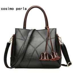 c8bb0bed3e Fashion Luxury Brand Designer Tassel Big Handbags Soft Leather Work Causal  Totes New Crossbody Bags for Women 2018 XMAS Gift