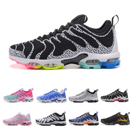 Wholesale best green designs - Best Quality Vapormax TN Plus Cheap Running Shoes For men women Streamline design vamp Multi Pink White Sneakers US 5.5-11