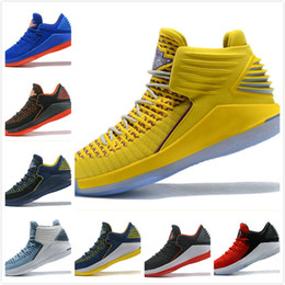 Wholesale Rubber Cement Plastic - Air Retro 32 XXXII CNY Chinese New Year Men Basketball Shoes J32 PF MVP Black Cement Red Russ Russell Westbrook Gold Mens Sneakers