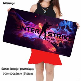 Wholesale Mouse Pad Mat Fashion - 900*400*2mm Large Size Fashion Camouflage pattern Mouse Pad Mouse keyboard Mat For Not book PC Computer Game Mouse pad