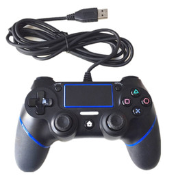 Manejar consolas de juegos online-Nuevo PS4 Wired Controllers USB Gamepads para PS4 Game Controller Vibration Wired Joystick Handle para PlayStation 4 Console