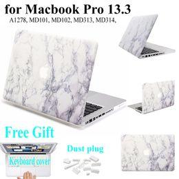 marmo macbook Sconti Hard PC Coque per MacBook Pro 13 Custodia per portatile A1278 MD101 Marble Stone Cover per MacBook Pro 13.3 Laptop Sleeve A1278 Custodia per borsa