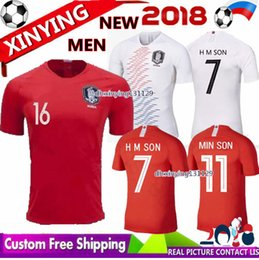 Wholesale shirt y - FREE Ship new 2018 world cup Home Away H M SOM SYKI soccer Jersey 18 19 MIN Son S Y Ki Football shirt