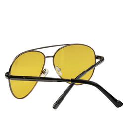 lunettes de soleil jaunes pour la conduite nocturne Promotion Lunettes de soleil Caikolly Fashion Pilot Night Vision Driving Jaune Lens Classique Anti-reflets Vision Driver Lunettes de sécurité pour hommes