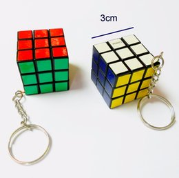 game prizes Coupons - 2 pc Mini magic Cubes Key chain E117 3cm Kids Educational Birthday Party Favors Pinata Bag Filler Loot Gag Game Gift Toys Prize