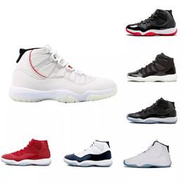 womens polo Sconti 11 Platinum Tint Gym Red Midnight Navy VINCI COME 82 Black Stingray Bred Concord Shoes 11s Mens Womens Scarpe da basket