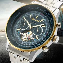 Wholesale Round Screws - Winner Night Lights Luxury Sport Men Wristwatch Hollow Automatic Skeleton Mechanical Military Screw crown Watches Steel Stainless reloj A264