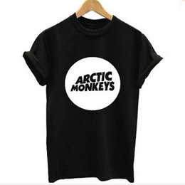 Wholesale Rolling Monkey - Arctic Monkeys Men's Tee Shirt Indie Rock And Roll Short Sleve O-neck Loose Thisrts Music Brand Summer new Hip hop Men T shirts