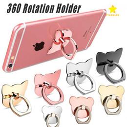 Wholesale Smart Phone Bracket - Finger Ring Mobile Phone Ring Holder Bracket Metal Lazy Ring Buckle Mobile Phone Bracket 360 Degree Stand Holder For all Smart Phone