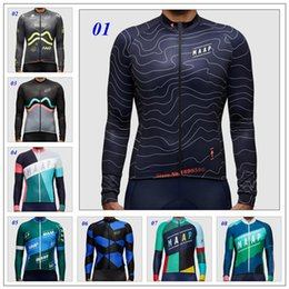 Wholesale Mountain Bike Long Sleeve - 2018 MAAP Cycling Team Long Sleeves Cycling Jersey Autumn Winter Thermal Fleece Ropa Ciclismo Mountain Bicycle Compression Bike Clothing
