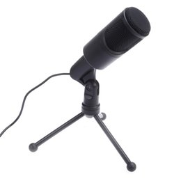 Wholesale desktop microphone for pc - USB Computer Microphone SF-960B Professional Condenser Microphone Mic Tripod Stand for Desktop PC Notebook