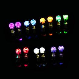 Işık Parlayan LED Küpe Kulak Damla Kristal Kolye Light up Küpe Çiviler Renkli Parlak Şık Moda Küpe supplier light up ear studs nereden işık kulak saplamaları tedarikçiler