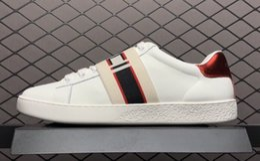 Argentina 2018 Zapatos de diseñador Belt as white Zapatos de pescado de abeja de tigre blanco bordado de lujo Genuine Leather Sneaker Sneaker Mens Women Casual Shoes Suministro
