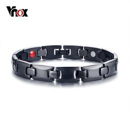 2019 justin bieber armbänder silikon Vnox Healing FIR Magnetische Titanium Bio Energie Armbänder für Männer Blutdruck Zubehör Schwarz Männlich Gesundheitswesen Therapie Armband