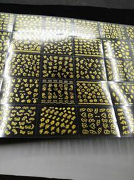 2019 adesivo de selo 30 Pcs Gold- Nail Stickers 3D Nail Art Sticker Decal Seal Arco Decalque / Coração / Renda adesivo-Auto Adesivo 3D Arte adesivo de selo barato