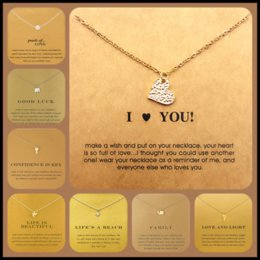 Wholesale Stainless Steel Silver Jewelry - 100 Styles Dogeared Choker Necklaces With Card Gold Circle Elephant Pearl Love Wings Cross Unicorn Pendants Necklace Jewelry
