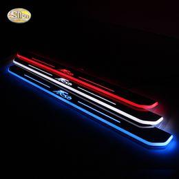2019 fiesta ha portato le luci Pedale a movimento leggero SNCN LED per Fiesta 2013 2014 2015 auto acrilico led pedale benvenuto pedale sconti fiesta ha portato le luci