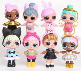 2019 muñeca barbie china 8 Unids / lote LOL Muñeca Americana PVC Kawaii Niños Juguetes de Regalo Anime Figuras de Acción Realistas Muñecas Renacidas 9 cm