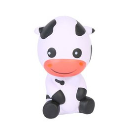 folk art embroidery Coupons - PU Cow Squishy Slow Rebound Decompression Toys Lovely Cattle Shape Squishies Squeeze Toy Novelty Children Gifts 13 5mz C