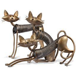 Artisanat moderne Métal Art de Printemps Chat De Fer Art De Chat Figurines Sculpture Ornement Articles Artisanat Maison Décoration Cadeau Jouets ? partir de fabricateur