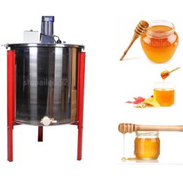 Transport gratuit matériel apicole / outils en acier inoxydable 8 cadre automatique électrique extracteur miel / abeille centrifugeuse avec trois jambes rouges ? partir de fabricateur