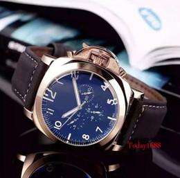 7869a2837df Chegam novas dos homens esporte casual máquina Automática relógios pulseira  de Couro assistir 4 cor melhor Presente de Natal para você