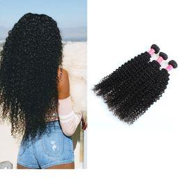 2019 18-дюймовые афро-волосы Афро кудрявый вьющиеся волосы перуанский наращивание волос 8-28 дюймов перуанский вьющиеся девственные волосы пучки натуральный черный дешево 18-дюймовые афро-волосы