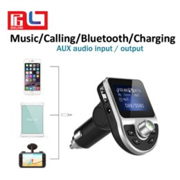 Wholesale apple dot - LCD dot Matrix Screen Car Charger Bluetooth Handfree Calling Music playing from Smartphone Support U Disk FM Free DHL