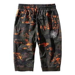 size 8xl clothing Coupons - 130kg Can Wear Sport Pant Men Sweatpants Big Size Cotton 3 4 Trousers Hip Hop Style Gym Pants Camouflage 7XL 8XL Run Clothing