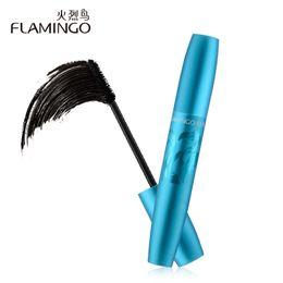 densa escova de maquiagem Desconto Frete Grátis Flamingo Maquiagem Dos Olhos 8 ml Rímel Grosso Dense Novo Fino Parafuso Escova Cabeça Volumizing Creme Super Volume Mascara 61208